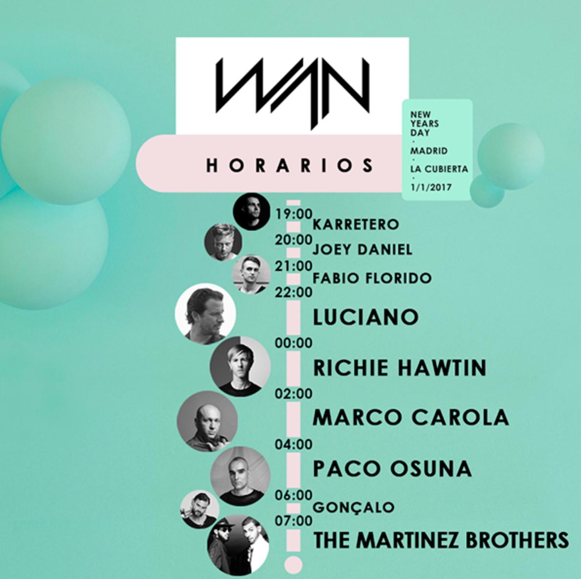 horarios wan festival 2017