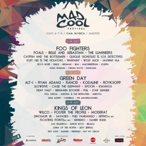Mad Cool 2017 Cartel | Grow Sound Mag
