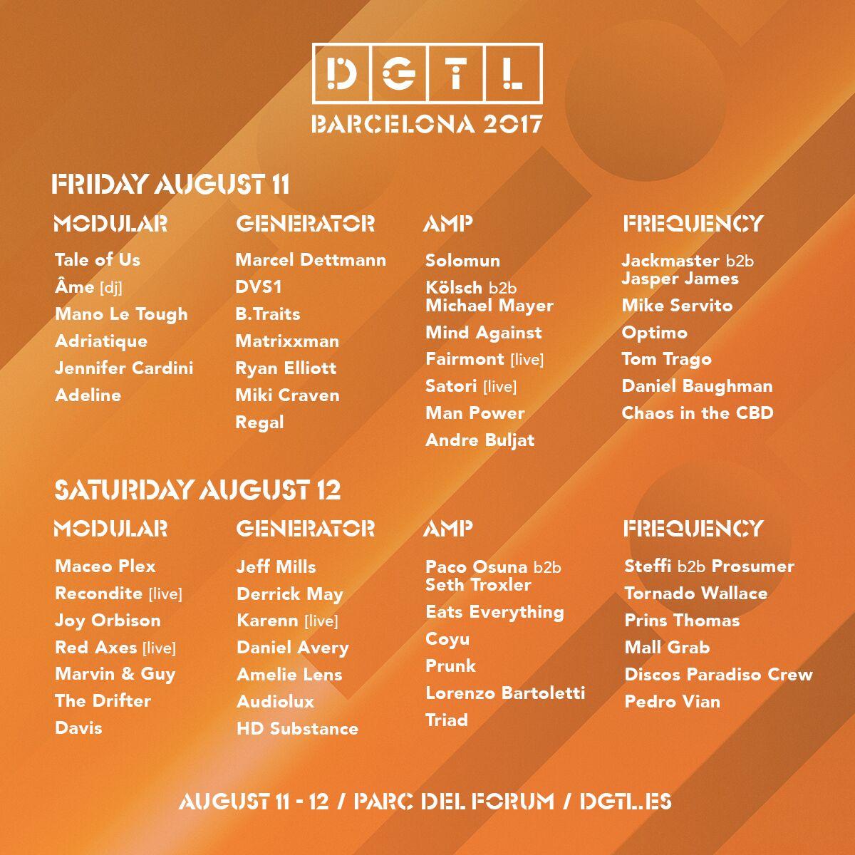 DGTL Full line up